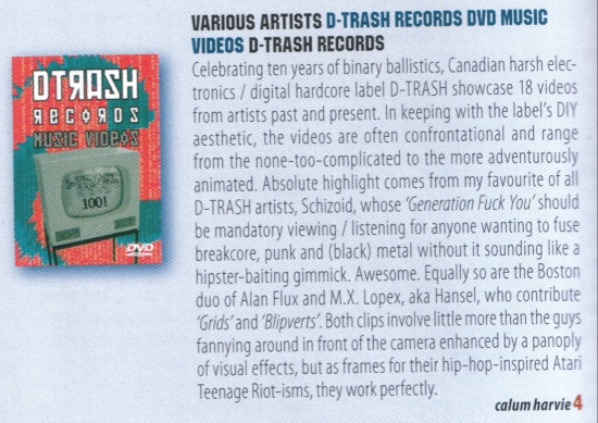 "REVIEW: ""D-Trash Records Music Videos"" @ Zero Tolerance"